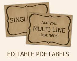 printable jar label sheets editable labels craft paper tags labels for mason jars