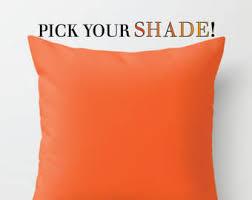 Orange Sofa Throw Orange Throw Pillow Etsy