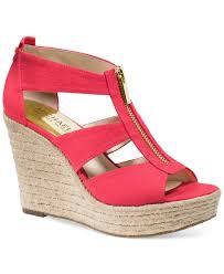 Michael Kors Michael Damita Platform Wedge Sandals In Natural Lyst