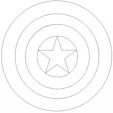 captain america shield coloring page intended to inspire in