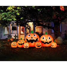 halloween inflateables 8 5 u0027 inflatable pumpkin patch walmart com