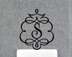 cake topper monogram best 25 monogram wedding cake toppers ideas on