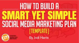 Plan Social Media How To Build A Smart Yet Simple Social Media Marketing Plan Template