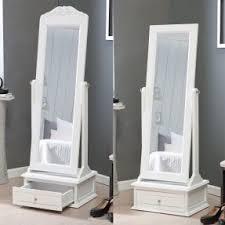 Free Standing Full Length Mirror Jewelry Armoire Floor Standing Mirror Jewelry Armoire Open Travel