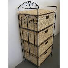meubles en rotin petit meuble de rangement 4 tiroirs en rotin