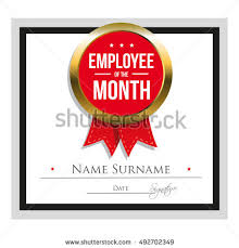 sample employee of the month certificate employee month certificate template stock vector 492702349