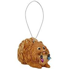 pomeranian ornament hanging gift box home