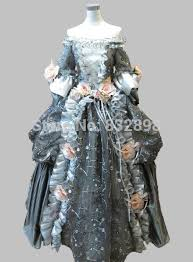 Victorian Halloween Costume Aliexpress Buy 17 18th Century Gray Floral Marie Antoinette