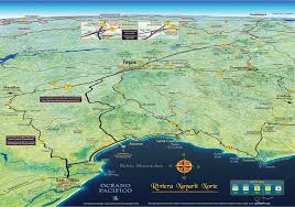 Bucerias Mexico Map by Mapa Jeff Cartography Riviera Nayarit Road Map