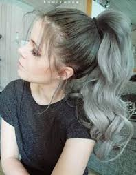 grey hair drawstring ponytail the 25 best grey hair ponytail ideas on pinterest white hair