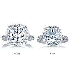 cushion halo engagement rings cushion cut cz halo engagement ring 8mm