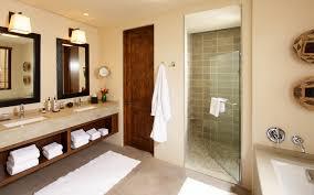 bathroom modern glass bathroom door beige tile flooring luxury