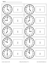 tell time worksheet worksheets