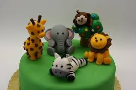 safari cake toppers jungle cake toppers express 12 count vinyl zoo animal 2