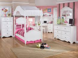 decoration modern girly kids room design idea white fabric