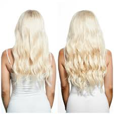 Clip Hair Extensions Australia by Bleach Blonde Clip In Hair Extensions Online Australia Eden Hair