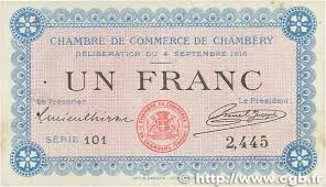 chambre de commerce chambery 1 franc regionalism and miscellaneous chambéry 1915 jp 044 01