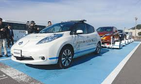 nissan leaf japan models self driving nissan leafs get factory jobs