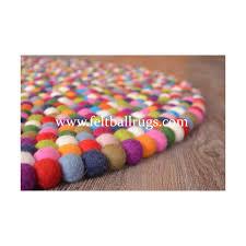 Wool Ball Rug 15 Colors Multicolored Round Felt Rug Felt Ball U0026 Rugs