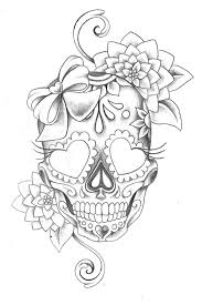 the 25 best flower skull tattoos ideas on pinterest pretty