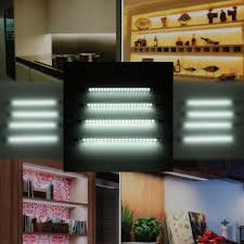thin led under cabinet lighting new lixada 4 packed ac 100 240v led under cabinet light cold white