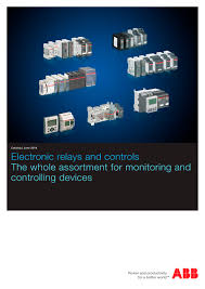 catalog 2016 electronic products and relays abb protection and