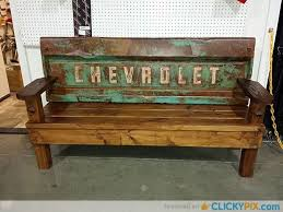 Old Wooden Benches For Sale 41 Diy Truck Tailgate Bench Ideas Upcycle A Rusty Tailgate