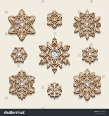 jewelry pendants vintage gold stock vector