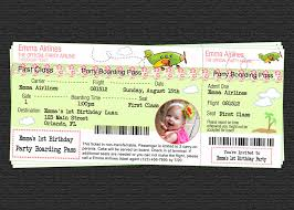 custom airline ticket airplane birthday luau party photo