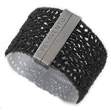 silver mesh bracelet with images Dna collection black sterling silver mesh bracelet pesavento jpg