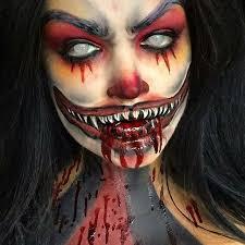 Creepy Clown Halloween Costumes 25 Scary Clown Face Ideas Scary Carnival