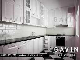 white kitchen set furniture kitchen set minimalis klasik dengan finishing duco project gavin