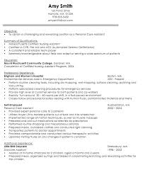 Sample Resume Doc by Sample Resume Fresh Graduates Personal Care Assistant Resumedoc