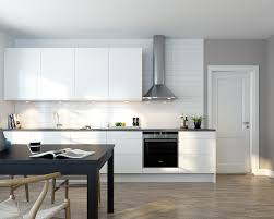 Kitchen Yellow Walls White Cabinets Excellent Nordic Kitchen Interior Design With Full White Color And