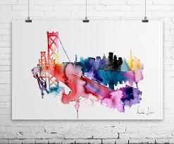 san francisco map painting wall designs san francisco wall san francisco brige