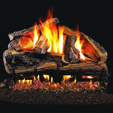 peterson real fyre 24 inch rugged split oak gas log set with
