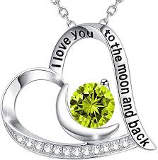 her story necklace images Birthday gift necklace for women green peridot jpg