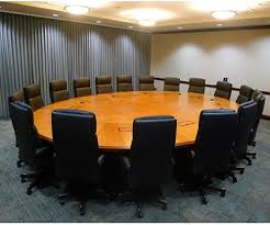 Circle Meeting Table Round Boardroom Table Bonners Furniture