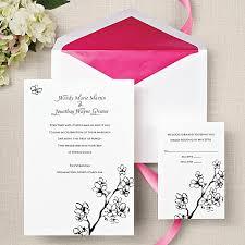cherry blossom wedding invitations cherry blossoms wedding invitation in bright white