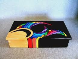 painted wood artwork best 25 painted boxes ideas on tins altered and