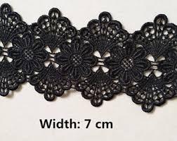 black lace trim black lace trim etsy