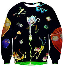 3d sweater and morty portal sleeve 3d wear sweater