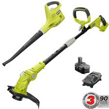 ryobi toll set home depot black friday ryobi one 18 volt lithium ion string trimmer edger and blower
