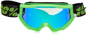 motocross goggles tinted amazon com 100 unisex goggle green mirror green one size