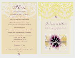 wedding program cover id15