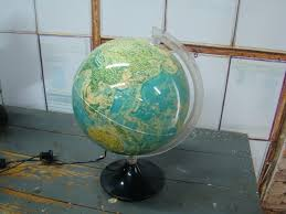 world globe home decor world globe lamp 1930s glass pre wwii vintage by dstrove on etsy