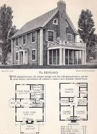 colonial home plans and floor plans 1928 home builders catalog the dennard vintage house plans