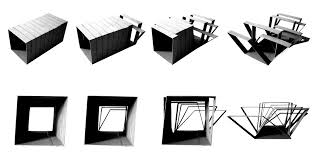shapeshifting furniture step 2 concept milos jovanovic garment structuring architecture