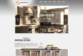 universal kitchens website a web design project by kensoftware
