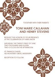 Blank Wedding Invitation Kits Brown Lace Free Printable Invite Wedding Invitation Templates